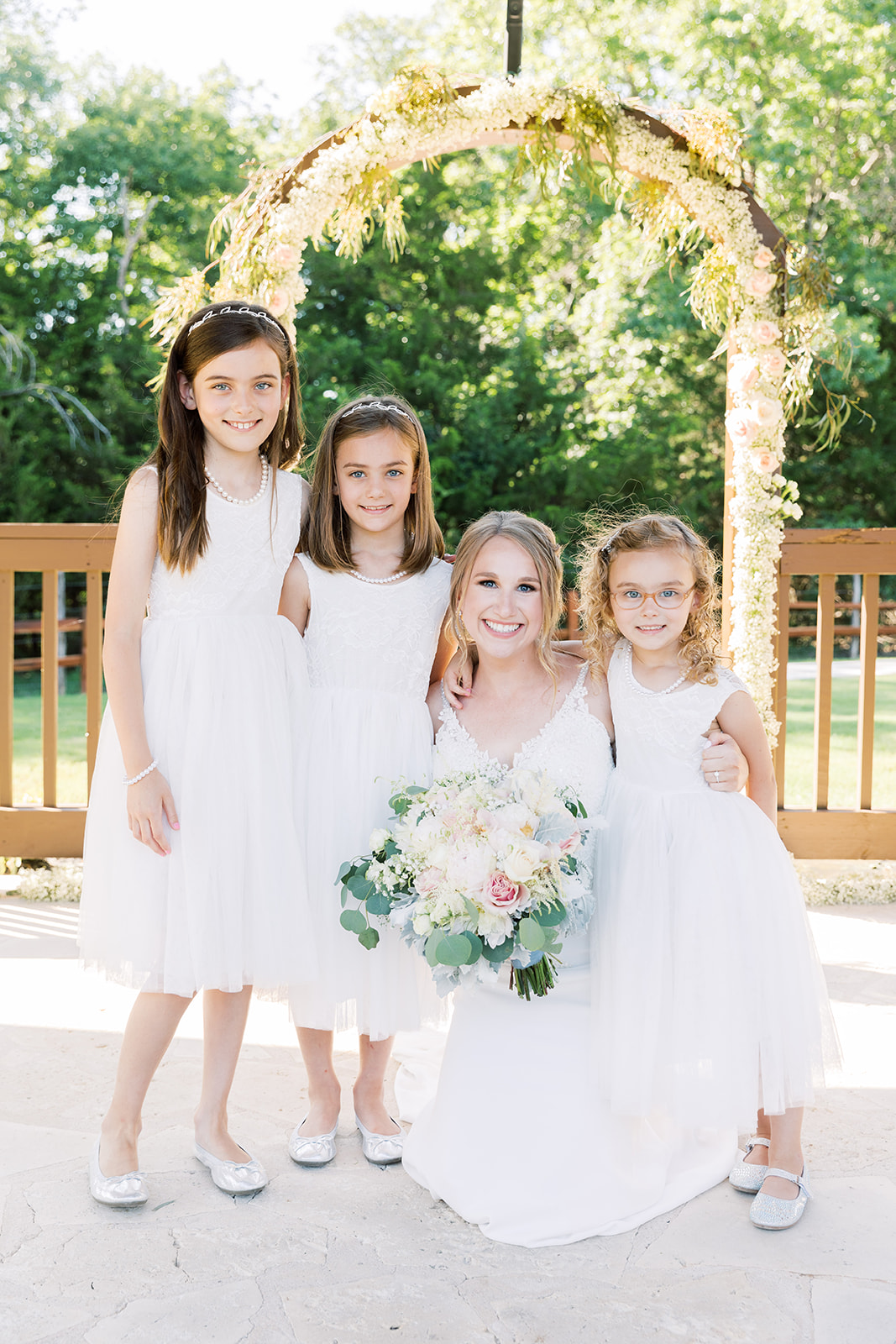 Flower girl dresses: | Romantic blue Texas wedding at Spring Venue by Alexa Kay Events