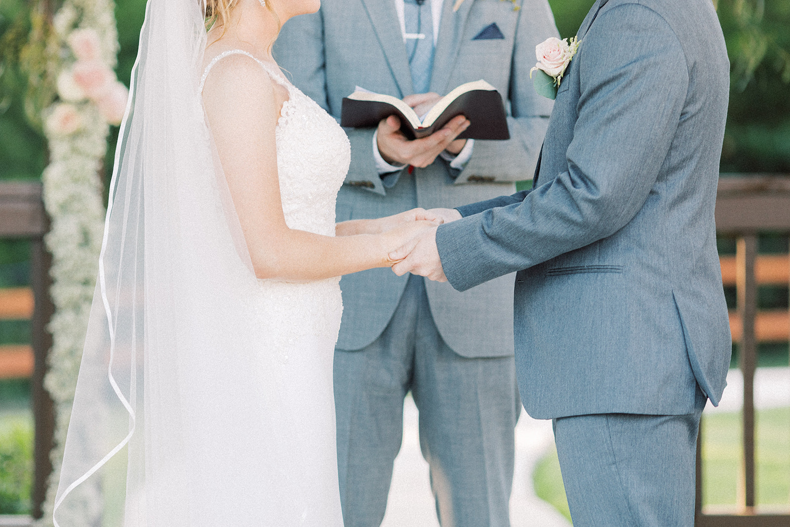 Wedding ceremony inspiration: | Romantic blue Texas wedding at Spring Venue by Alexa Kay Events