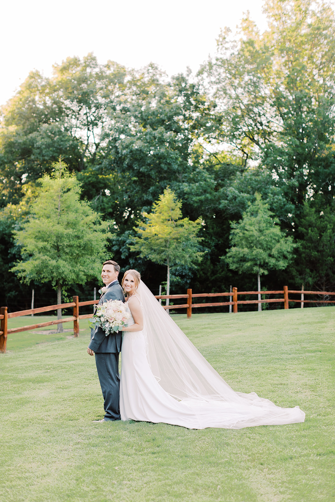 Bride and groom poses: | Romantic blue Texas wedding at Spring Venue by Alexa Kay Events