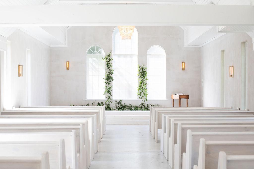 Simple wedding ceremony decor: Modern Minimalistic Wedding at The Emerson