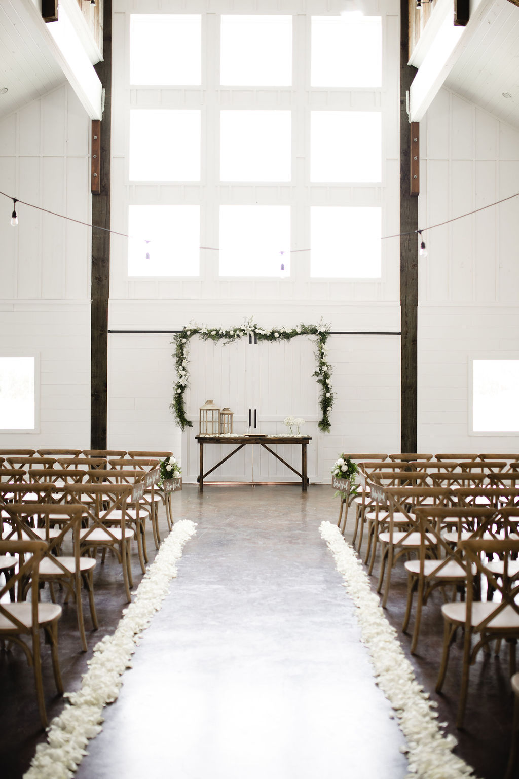 Rustic wedding ceremony decor inspiration