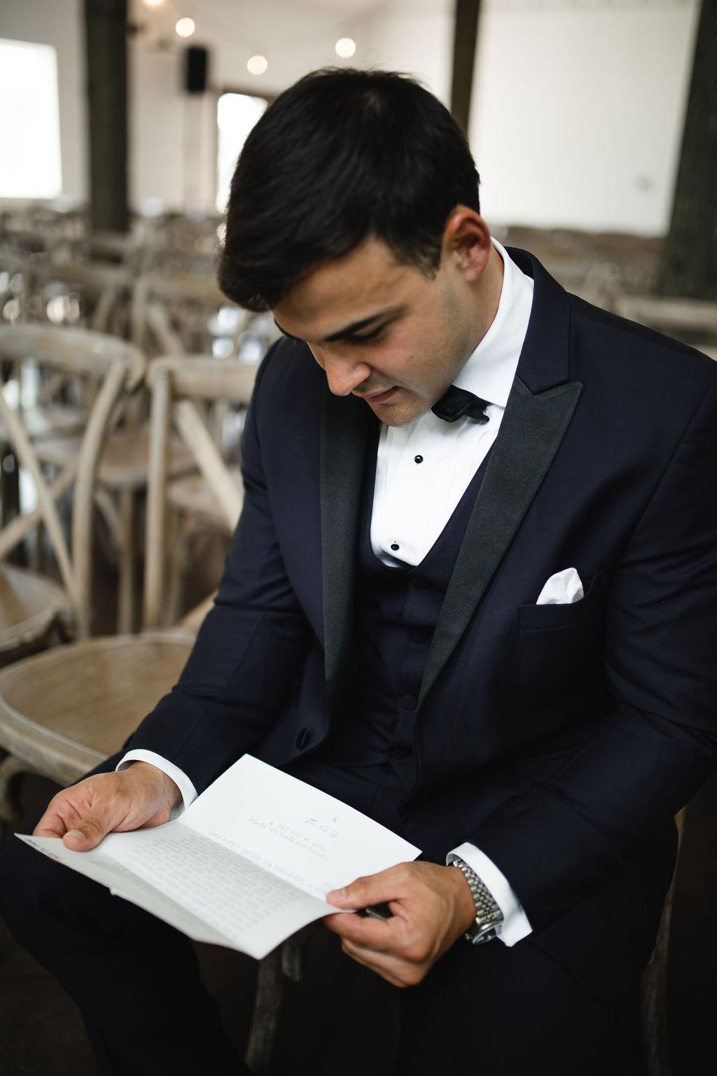 Modern grooms attire