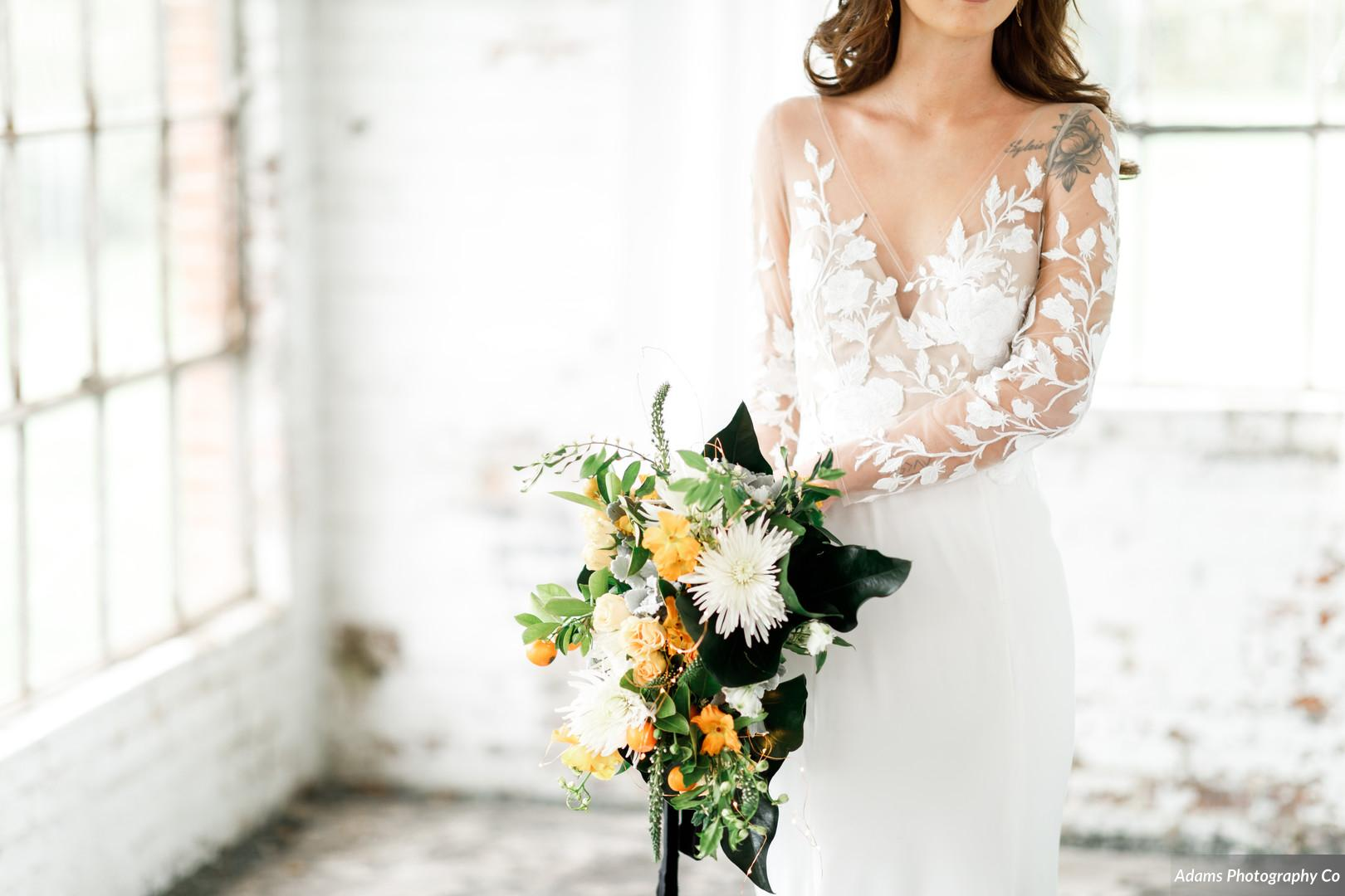 Wedding bouquet: Black, White, and Gold Modern Wedding Inspiration featured on Alexa Kay Events