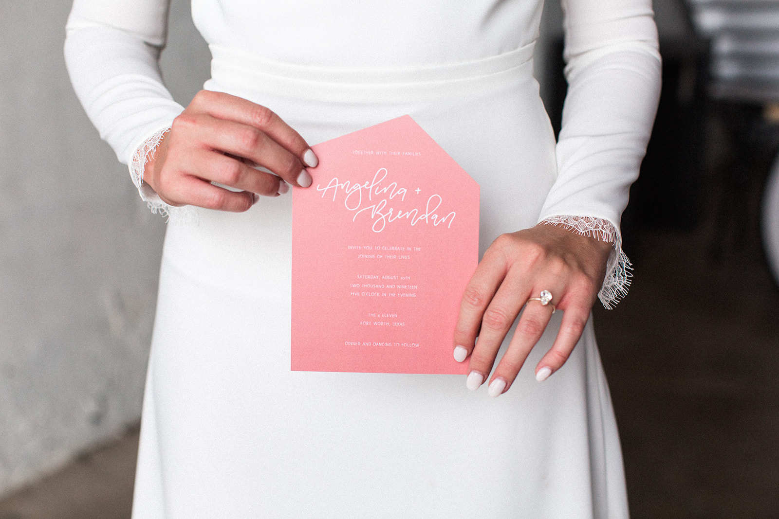 Pink wedding stationery: Fall Garden Wedding featured on Alexa Kay Events