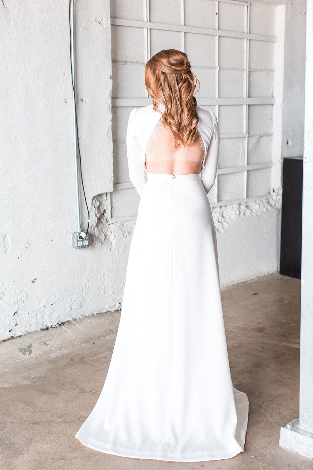 Wedding dress details: Fall Garden Wedding featured on Alexa Kay Events