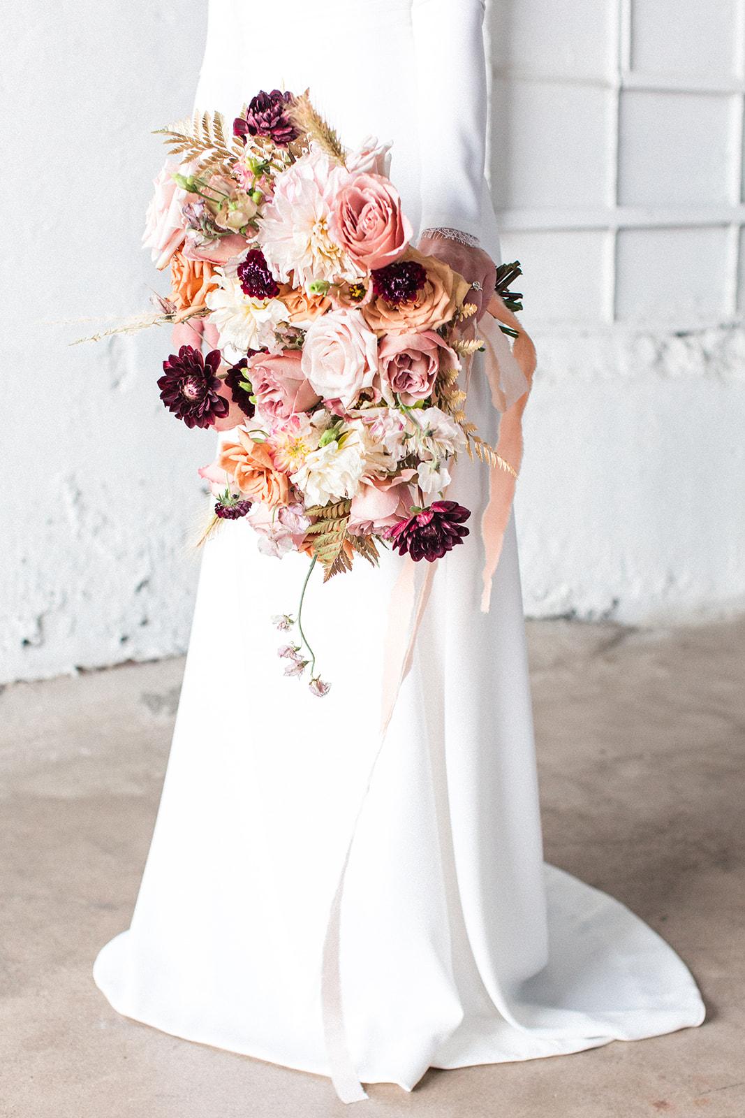 Girly fall wedding bouquet: Fall Garden Wedding featured on Alexa Kay Events