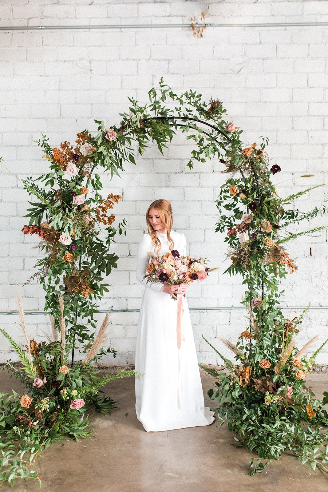 Garden wedding decor: Fall Garden Wedding featured on Alexa Kay Events