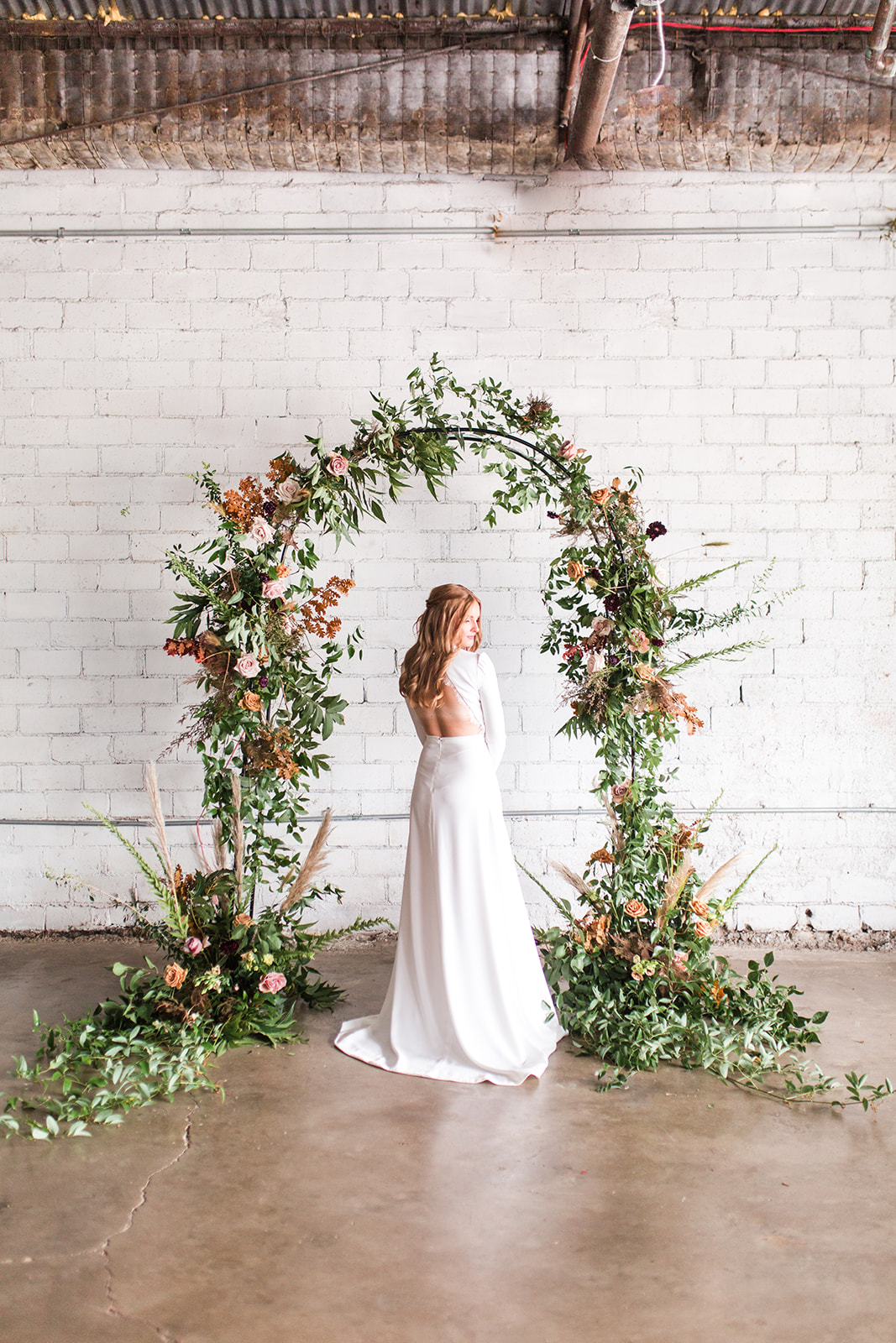 Wedding floral arch: Fall Garden Wedding featured on Alexa Kay Events