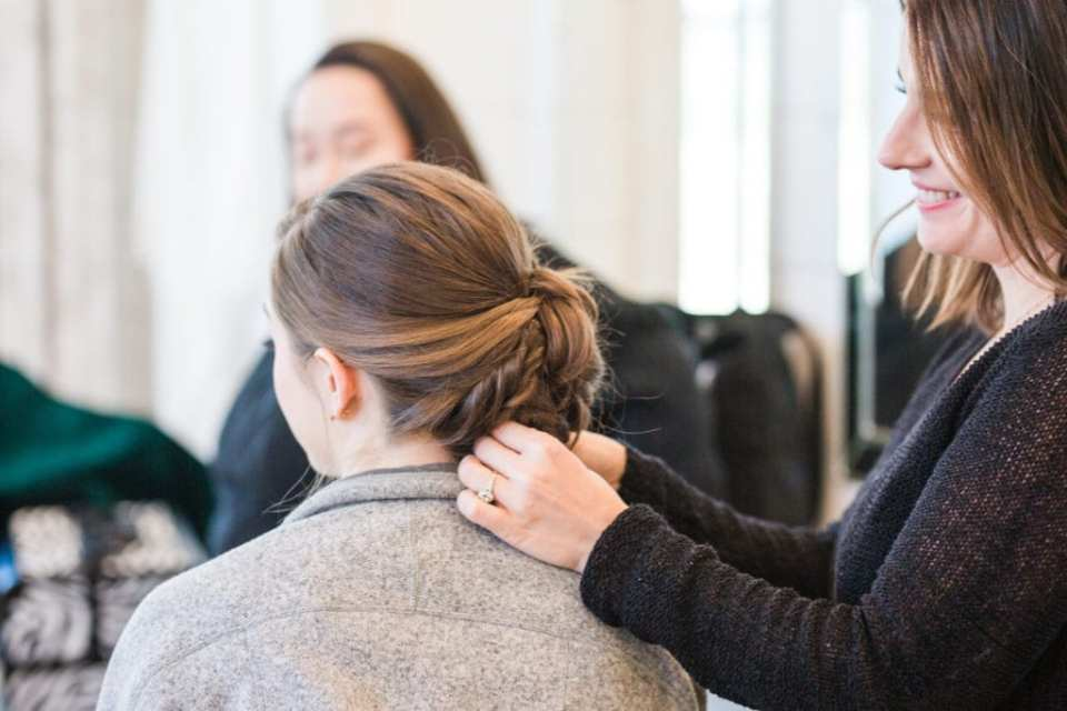 Low wedding updo: Get to know the ladies of Brite Bar Beauty on Alexa Kay Events!
