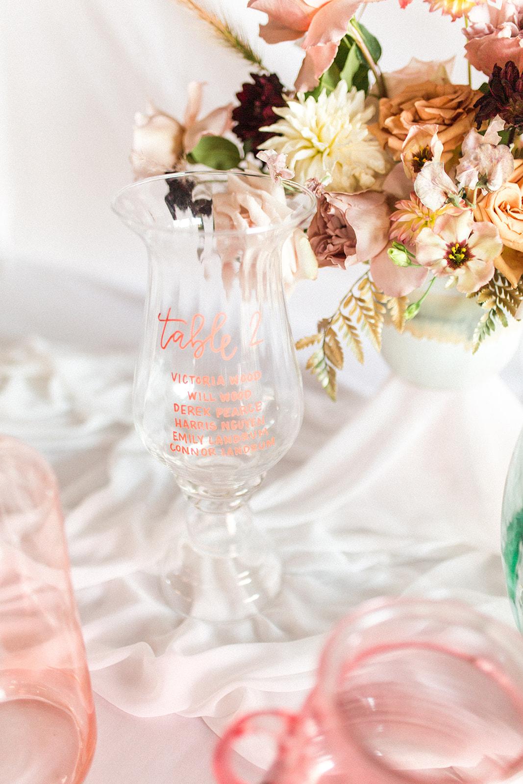 Wedding table number display ideas: Fall Garden Wedding featured on Alexa Kay Events