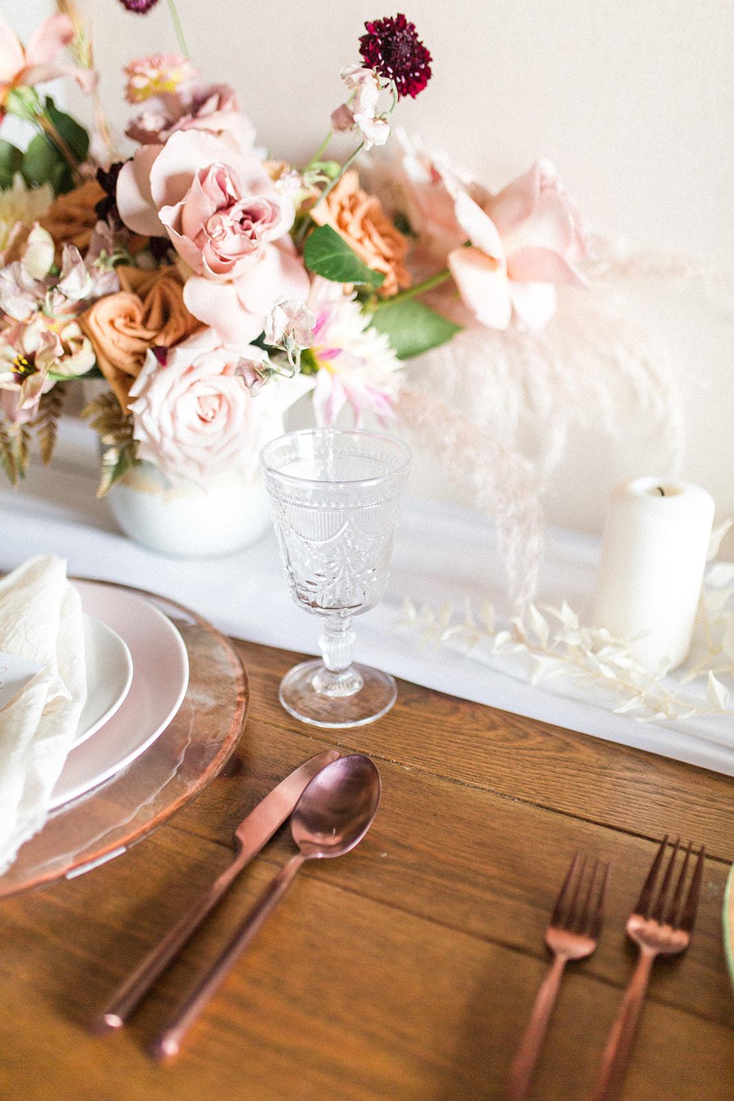 Wedding table decor: Fall Garden Wedding featured on Alexa Kay Events