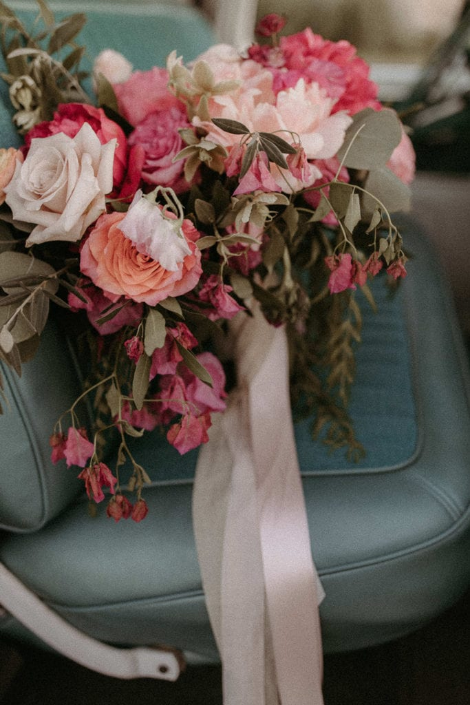 Wedding bouquet: Intimate and Charming Wedding featured on Alexa Kay Events blog