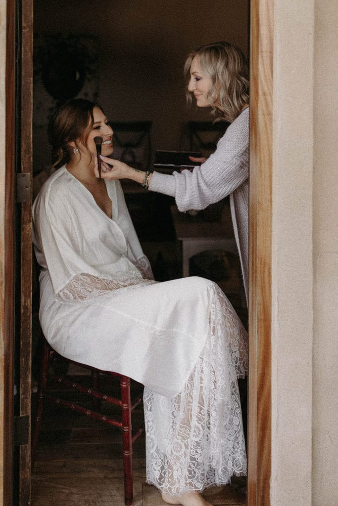Bridal getting ready photos: Intimate and Charming Wedding featured on Alexa Kay Events blog