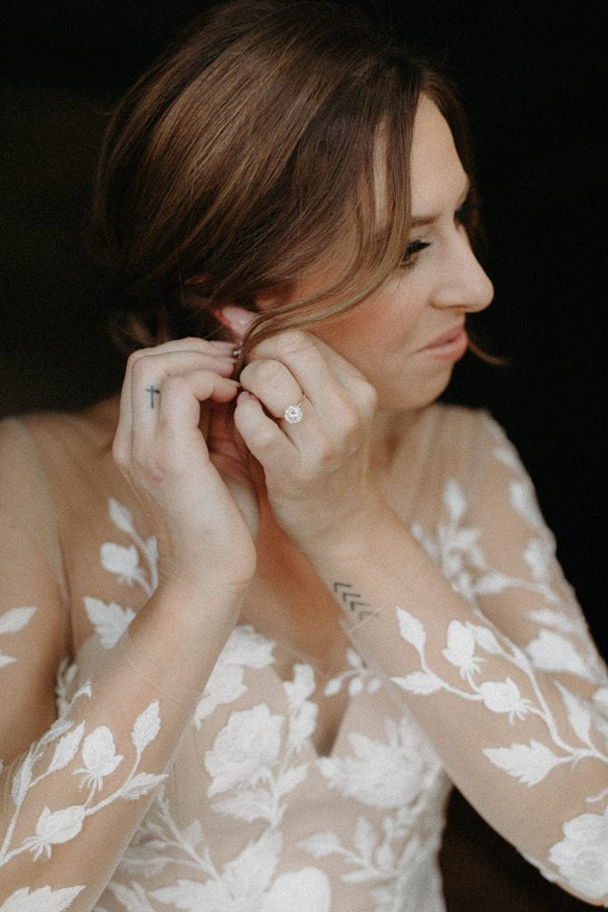 Wedding jewelry: Intimate and Charming Wedding featured on Alexa Kay Events blog