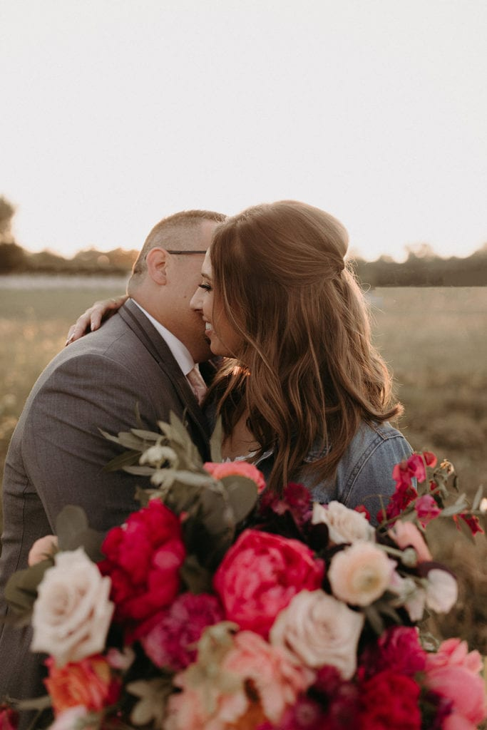 Dallas golden hour wedding photos: Intimate and Charming Wedding featured on Alexa Kay Events blog