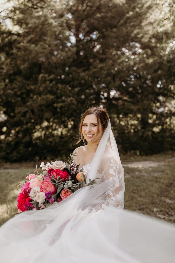 Bridal bouquet: Intimate and Charming Wedding featured on Alexa Kay Events blog