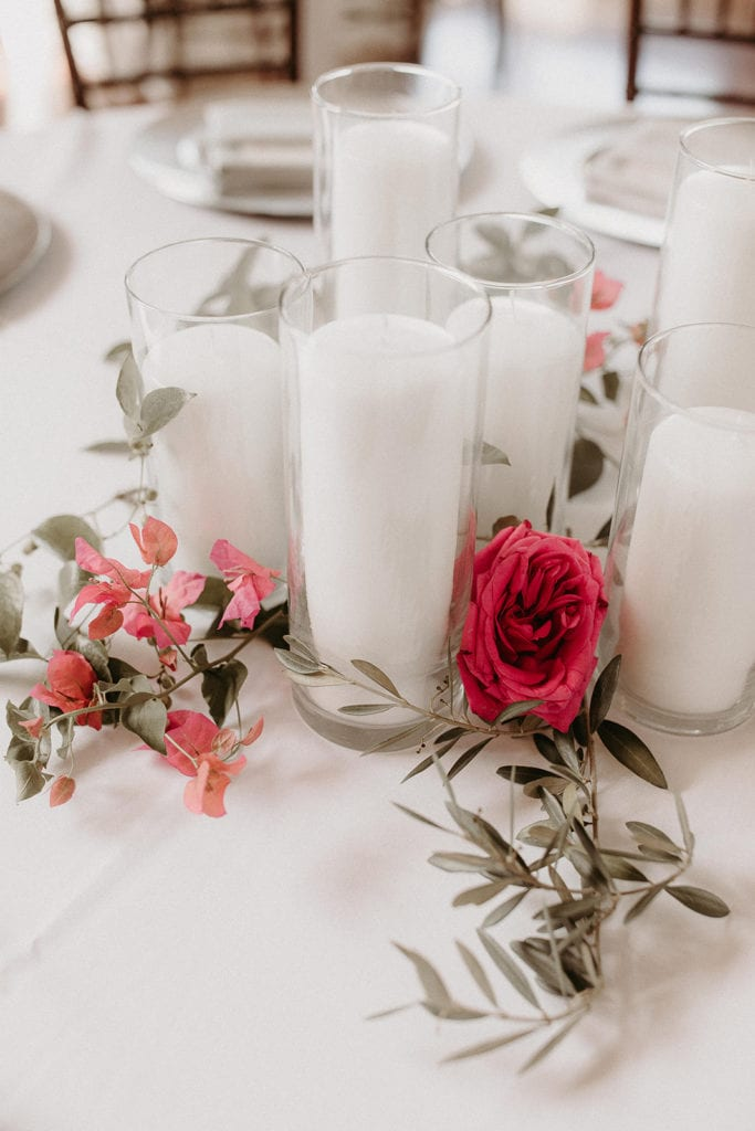 Wedding centerpieces: Intimate and Charming Wedding featured on Alexa Kay Events blog