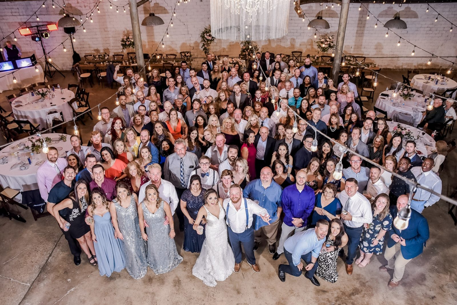 Group Wedding Photo at 4 Eleven DFW Wedding