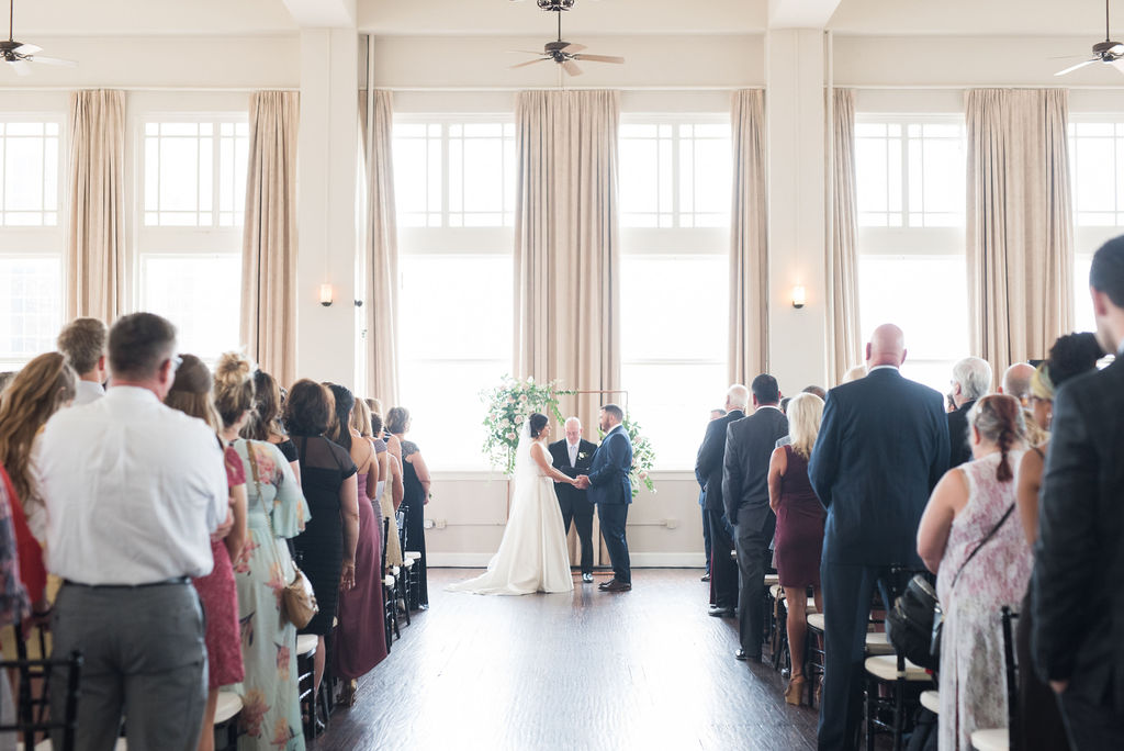 Room on Main Dallas Wedding: Dusty Blue and Blush Wedding at The Room on Main featured on Alexa Kay Events!