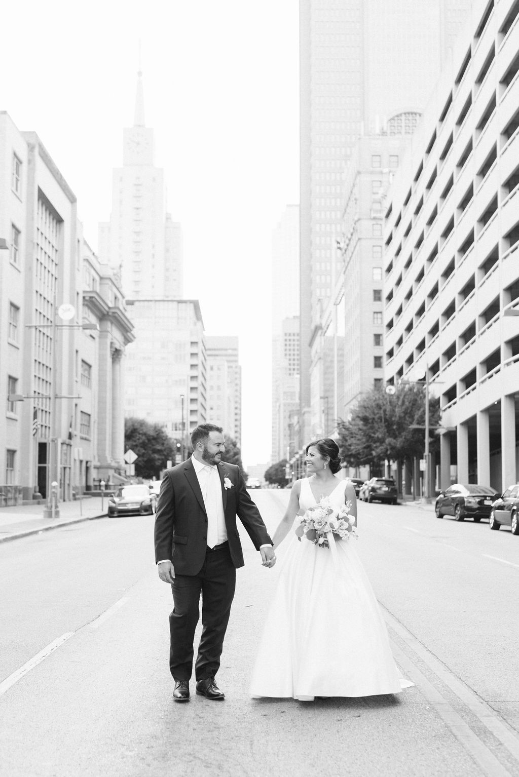 DFW Wedding Photography: Dusty Blue and Blush Wedding at The Room on Main featured on Alexa Kay Events!