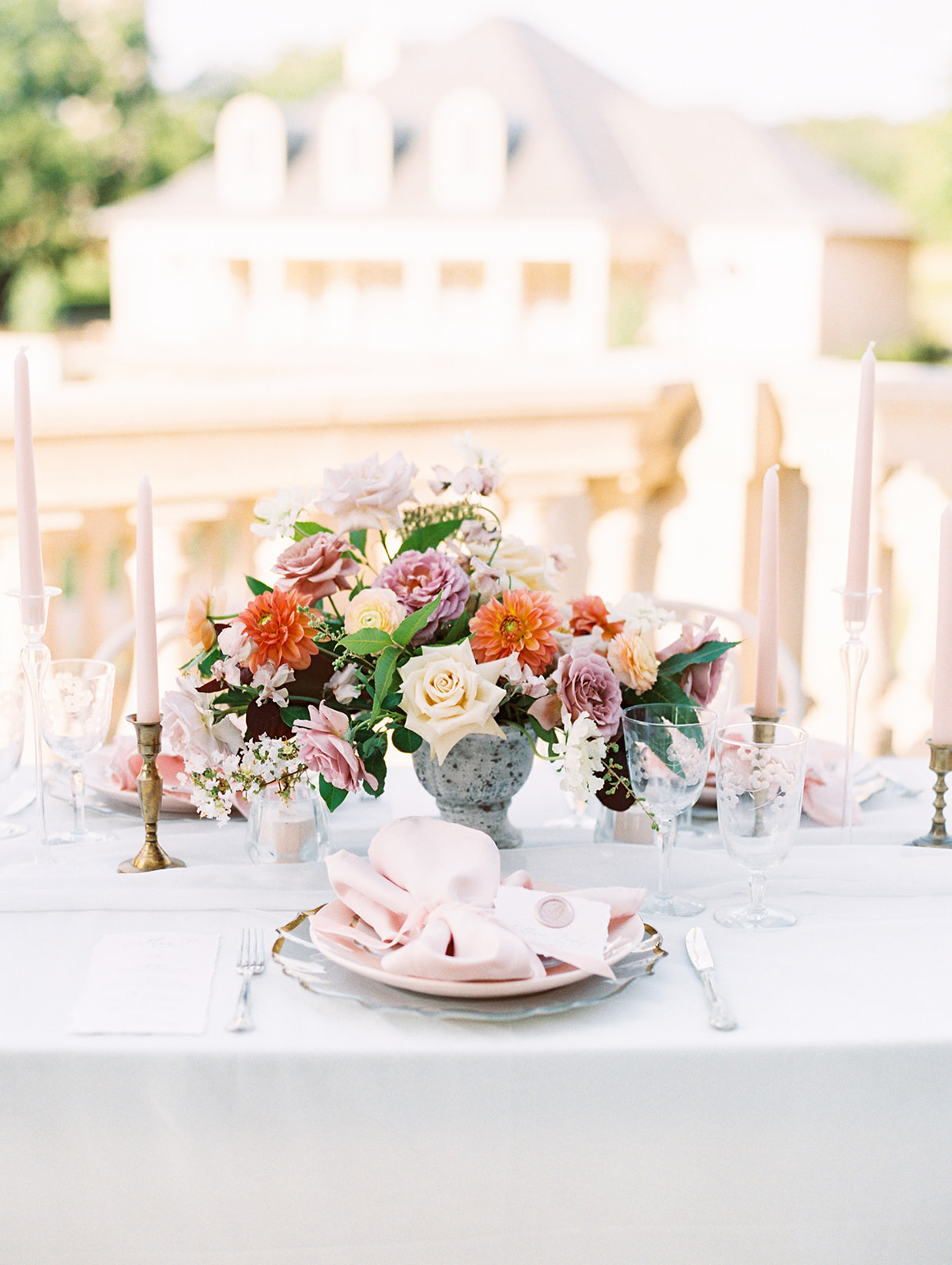 Wedding centerpiece: Whimsical garden elegance styled shoot featured on Alexa Kay Events