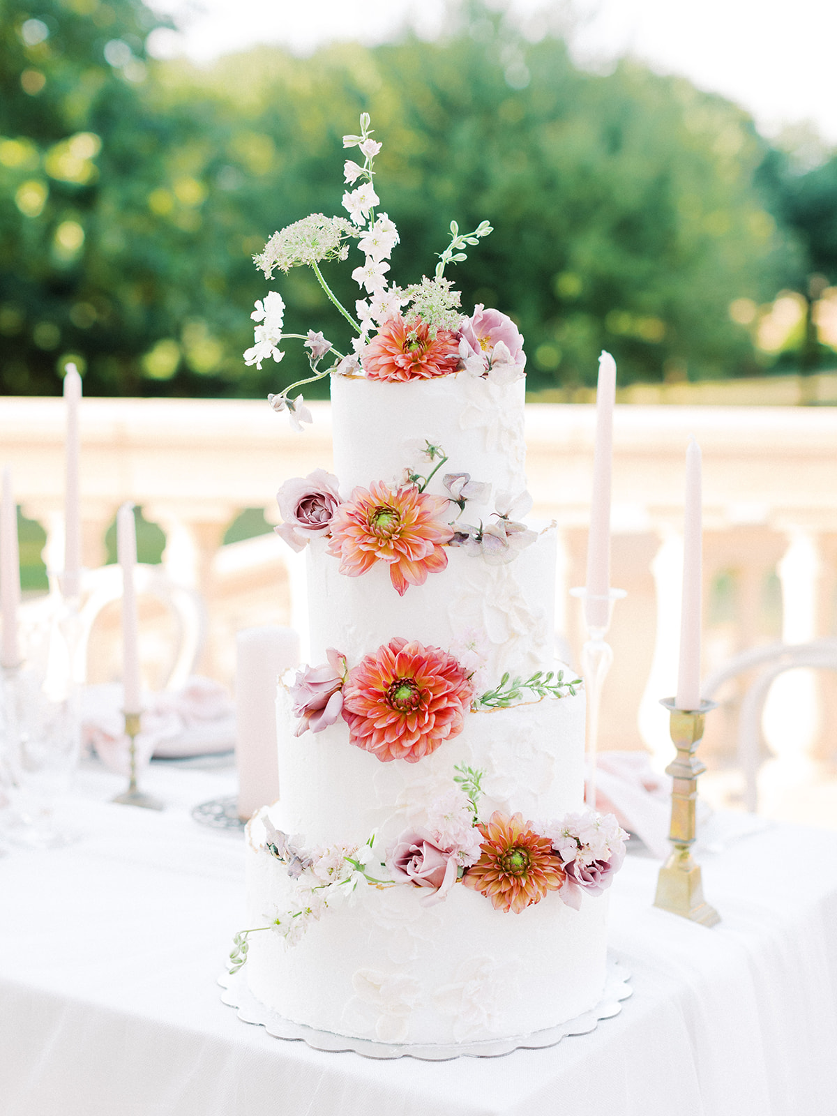 Floral wedding cake decor: Whimsical garden elegance styled shoot featured on Alexa Kay Events