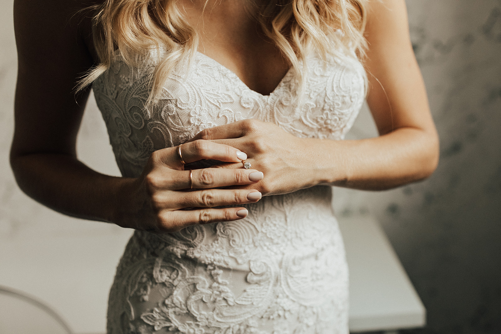 Sweetheart wedding dress details by Lauren Nicole