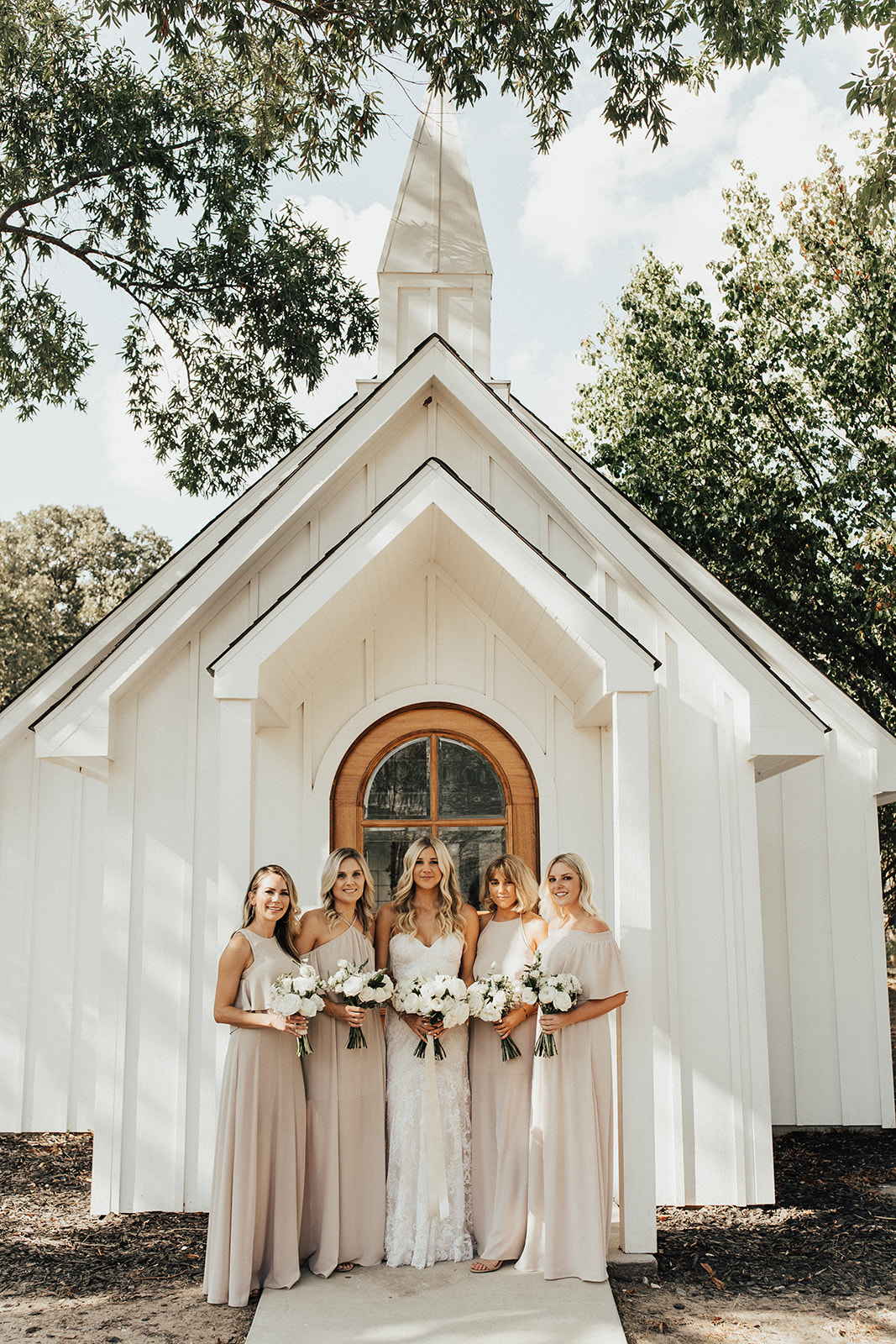 Taupe Bridesmaids Dresses for Wedding at The Emerson planned by Alexa Kay Events