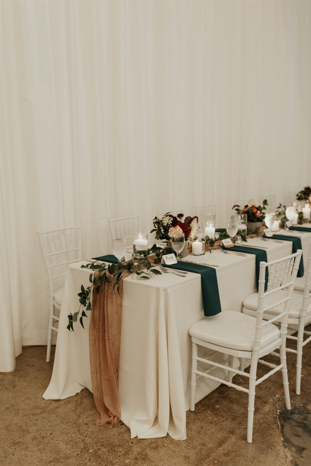 Bold and Romantic Wedding Decor at The Hall on Dragon featured on Alexa Kay Events!