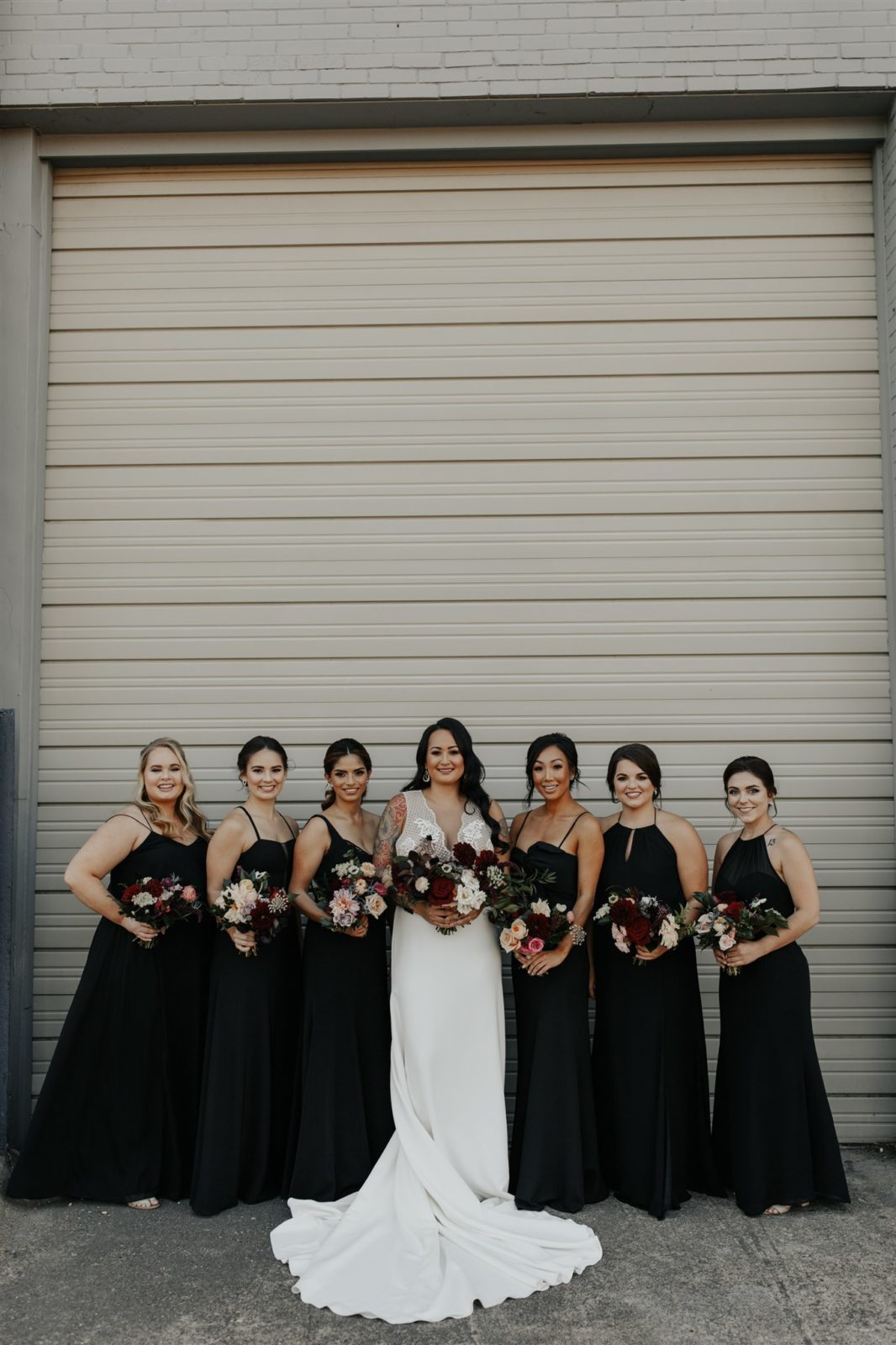 Black Bridesmaid Dress for Moody Wedding featured on Alexa Kay Events
