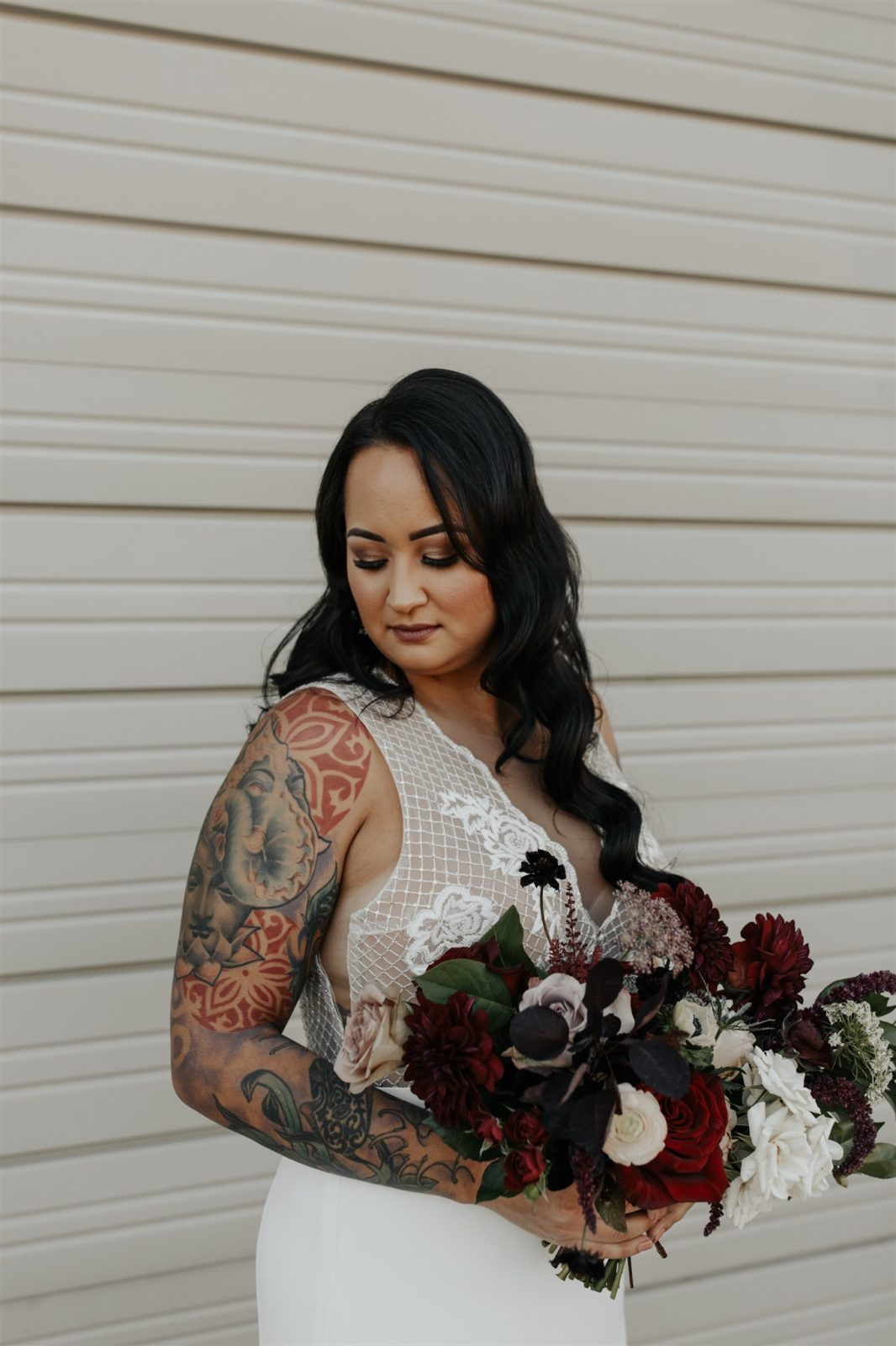 Edgy Bridal Fashion for DFW Wedding on Alexa Kay Events