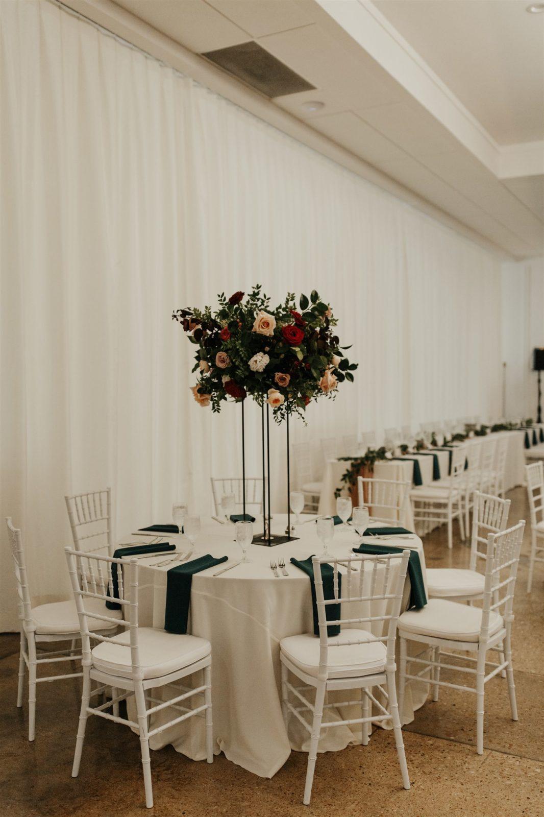 The Hall on Dragon Wedding Reception Centerpieces on Alexa Kay Events