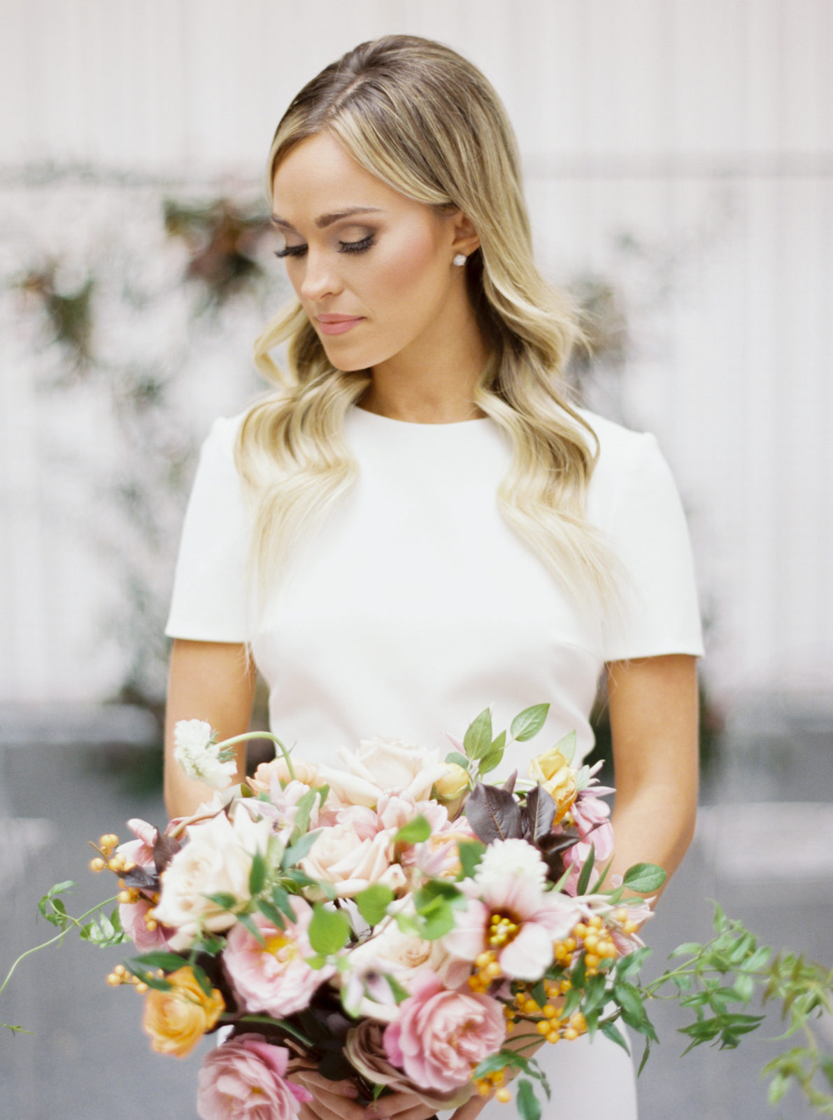 The Styling Stewardess Hair and Makeup: Modern Ethereal Wedding Inspiration at The Joule on Alexa Kay Events