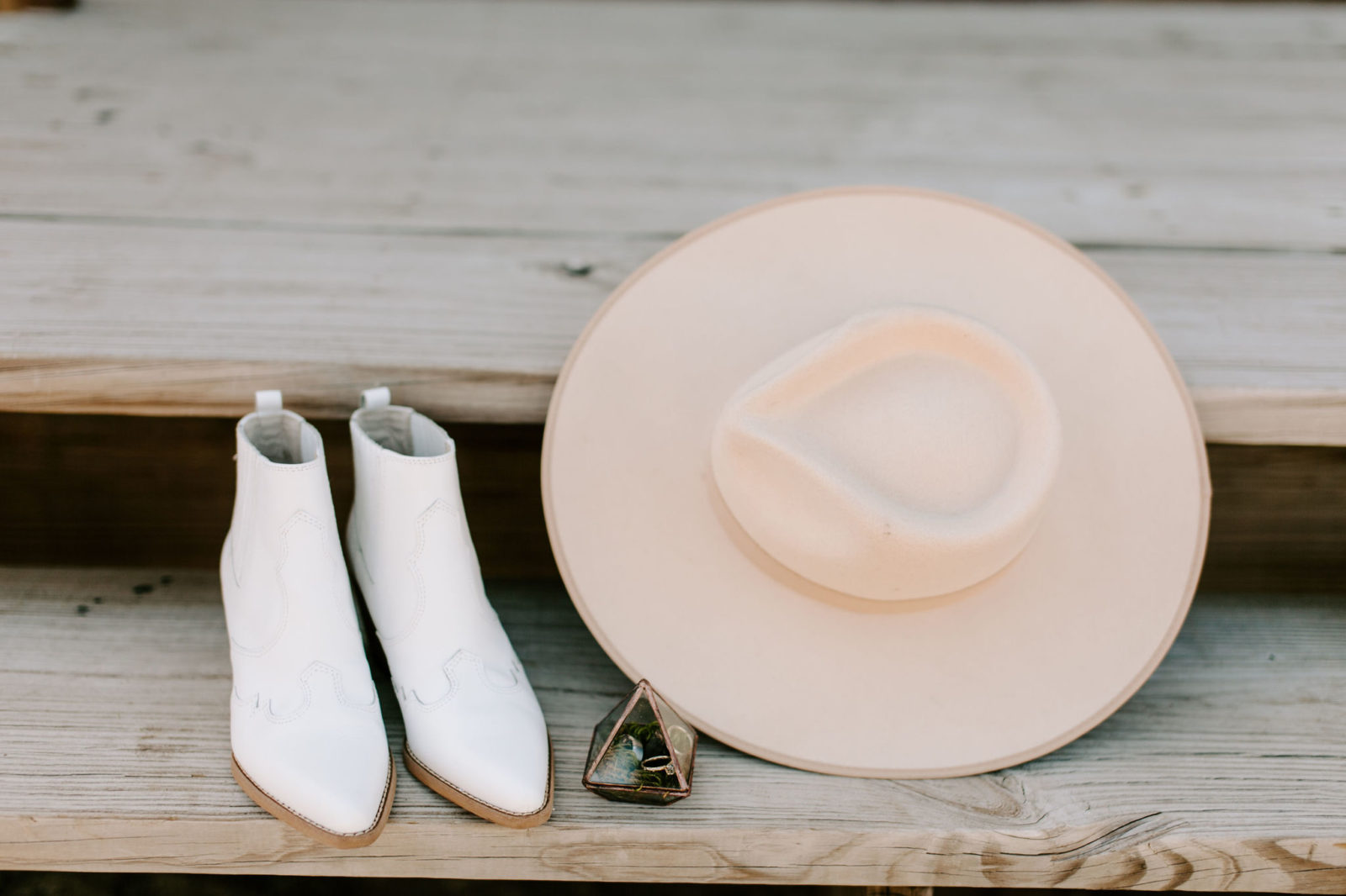 Boho bridal accessories: Bohemian Big White Barn Wedding