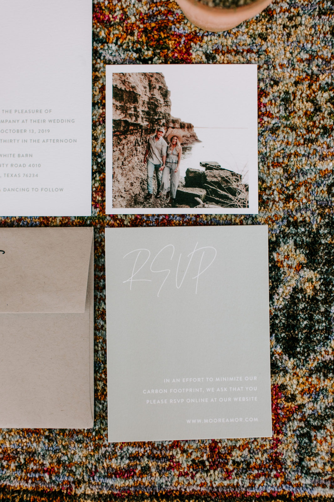 Rustic Wedding Stationery: Bohemian Big White Barn Wedding