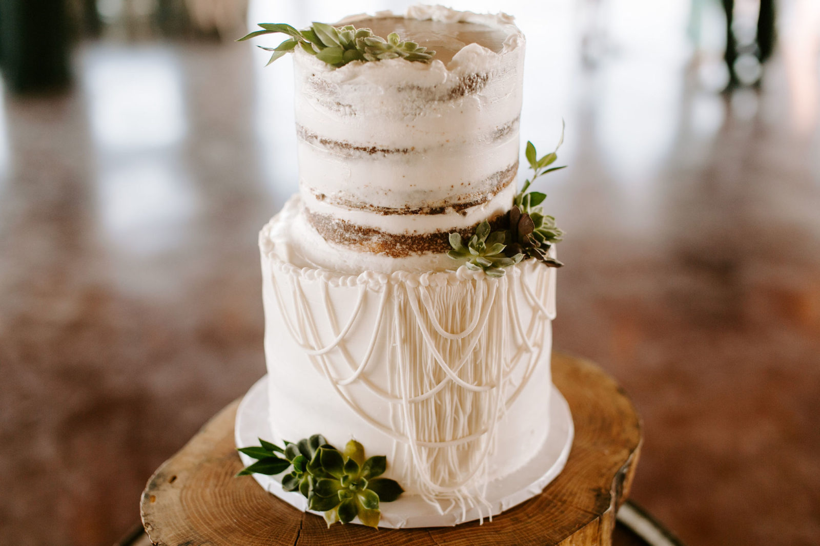 Boho Wedding Cake Design: Bohemian Big White Barn Wedding