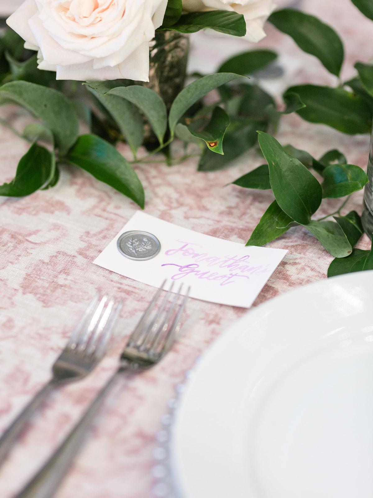 Wedding Escort Card: Luxurious Knotting Hill Place Wedding