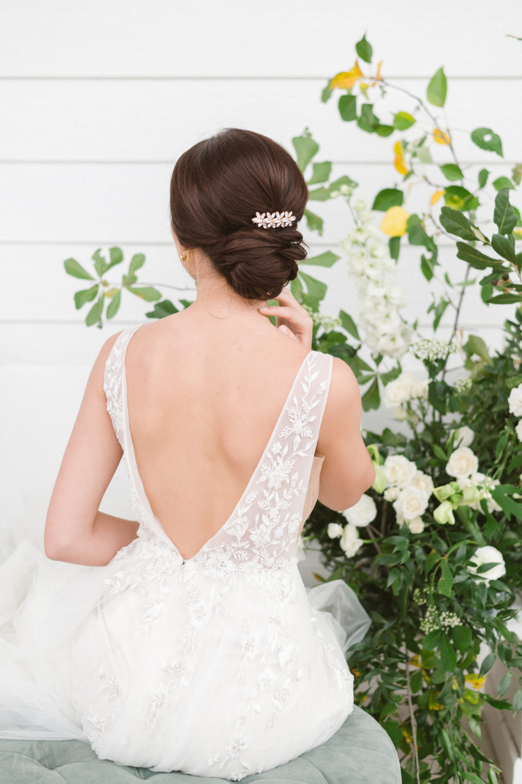DFW Tousled Bridal Updo: Delightful Wedding Inspiration at The Pearl featured on Alexa Kay Events