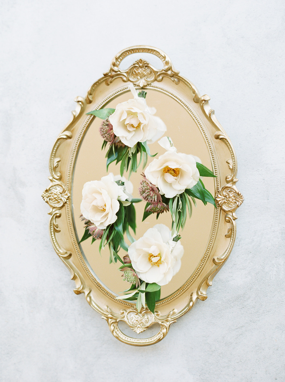 Ivory Wedding Boutonnieres: Feminine and Whimsical Clark Gardens Wedding