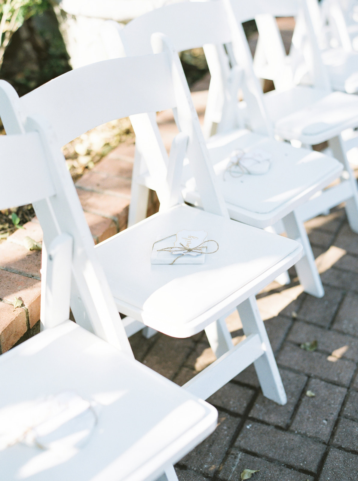 Wedding Ceremony Setup: Feminine and Whimsical Clark Gardens Wedding