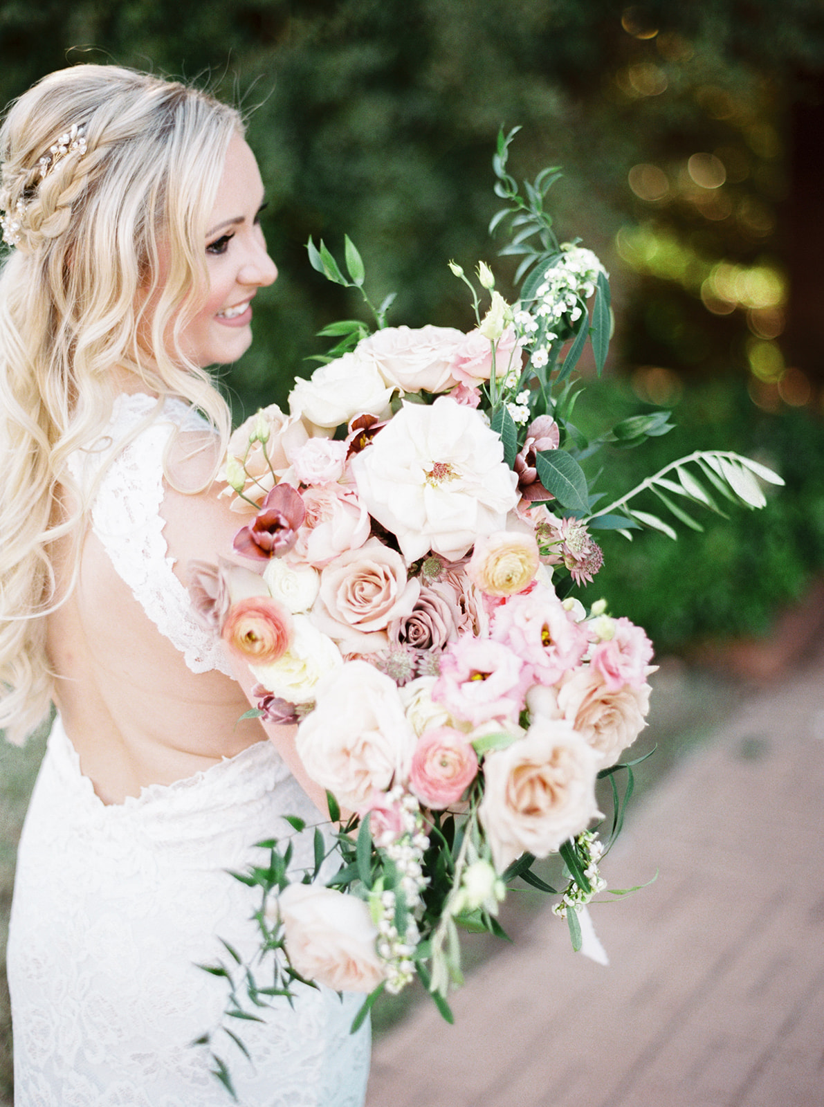 Alba Dahlia Floral Wedding Bouquet featured on Alexa Kay Events