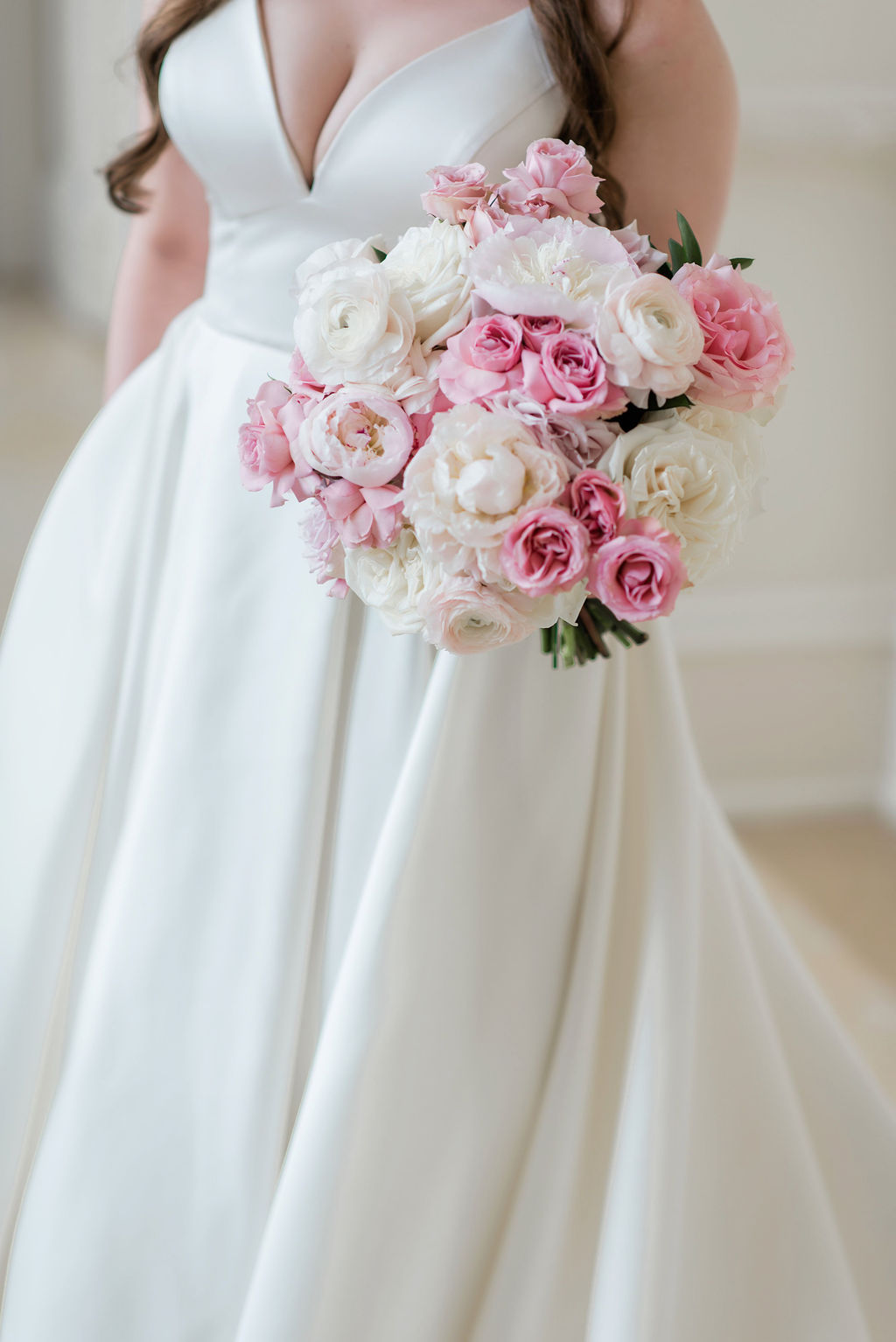 Pink and White Wedding Bouquet: Dreamy Pink and Gray Wedding at The Olana