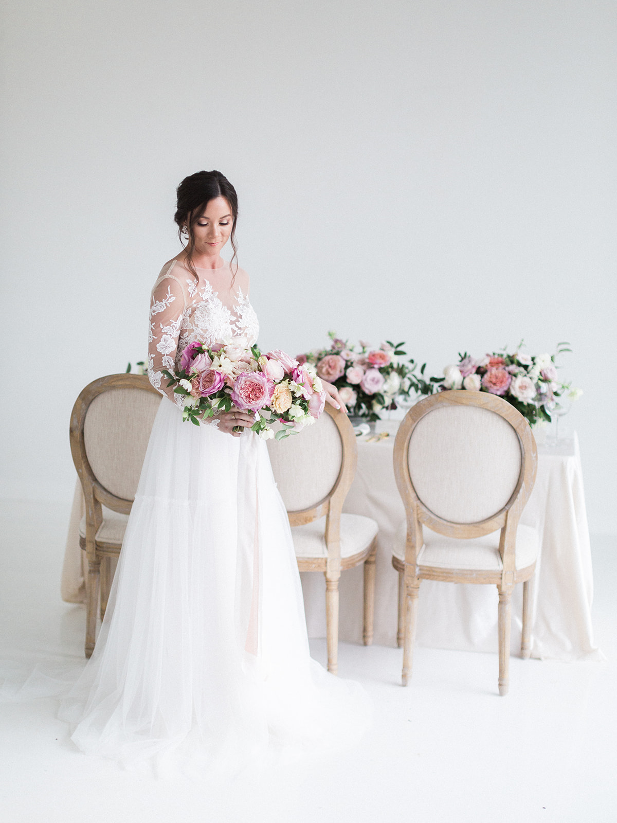 Pink Floral Wedding Inspiration at The Lumen Room featured on Alexa Kay Events