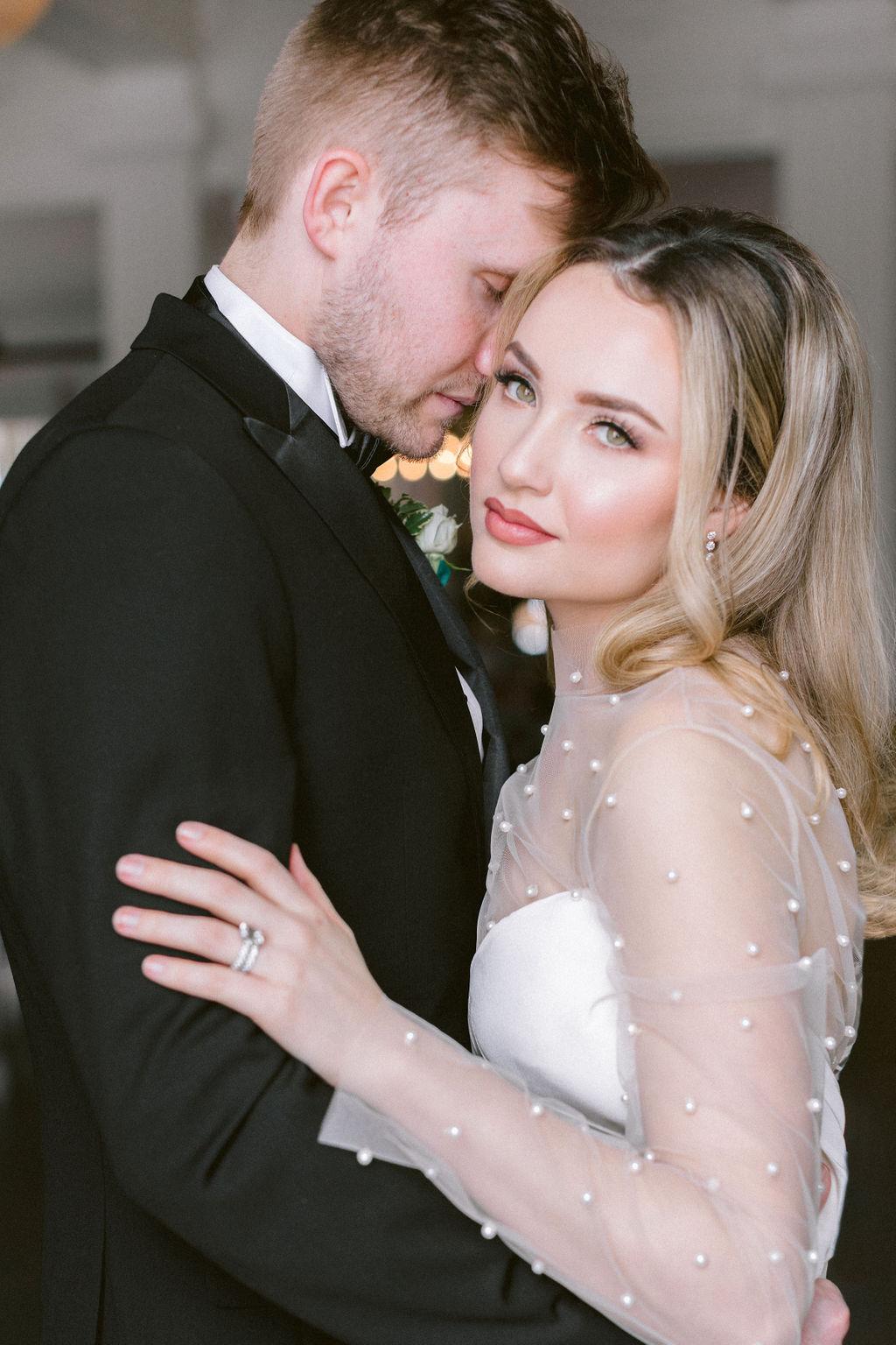 Soft and natural bridal makeup: Elegant Dallas Wedding Inspiration at The Mason featured on Alexa Kay Events