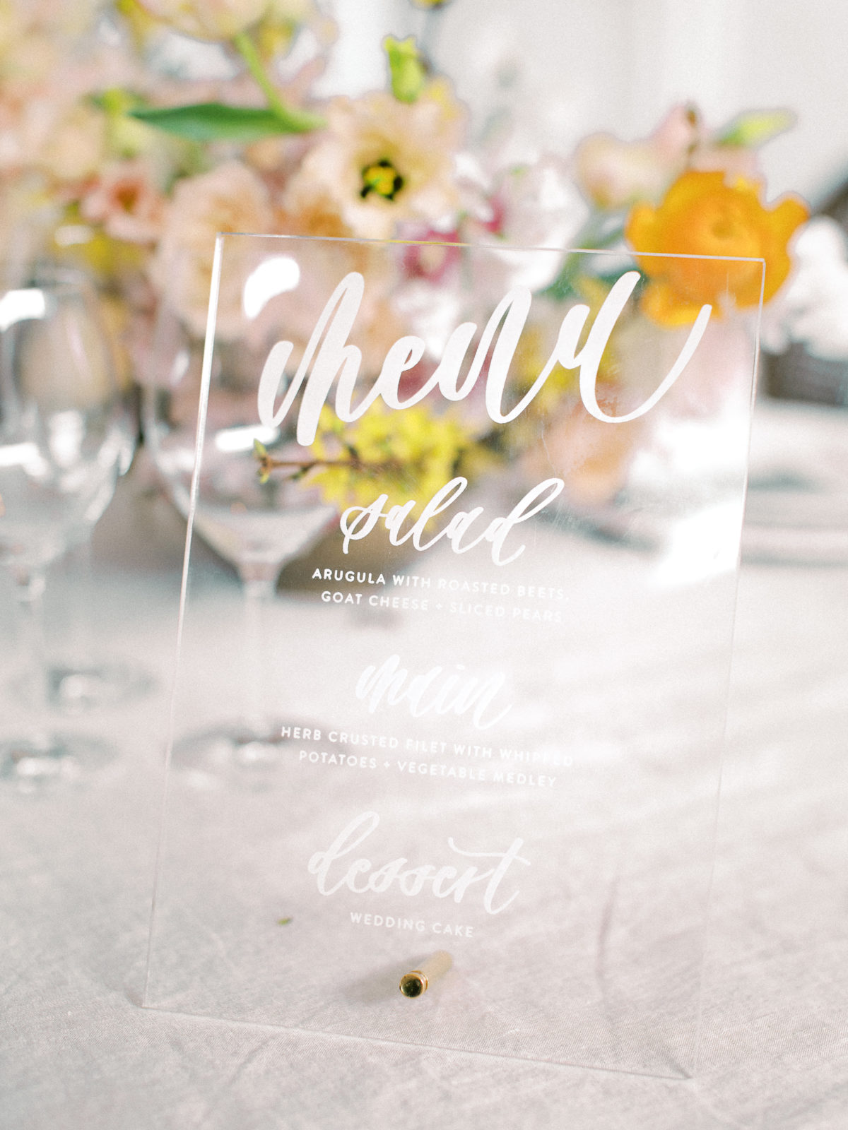 Hand-lettered wedding table numbers: Whimsical Wedding Inspiration at The Place at Tyler from The Bridal Masterclass featured on Alexa Kay Events