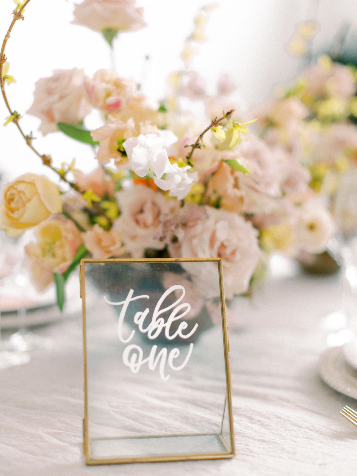 wedding calligraphy: Whimsical Wedding Inspiration at The Place at Tyler from The Bridal Masterclass featured on Alexa Kay Events