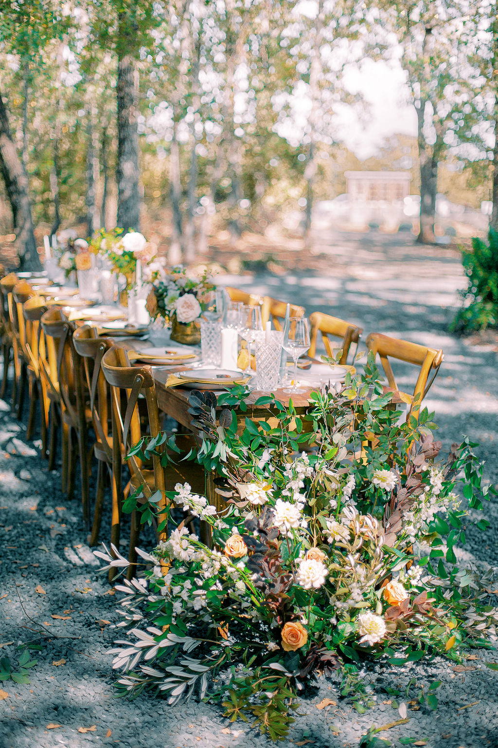 Outdoor wedding tablescape: Ethereal Wedding Inspiration at The White Sparrow