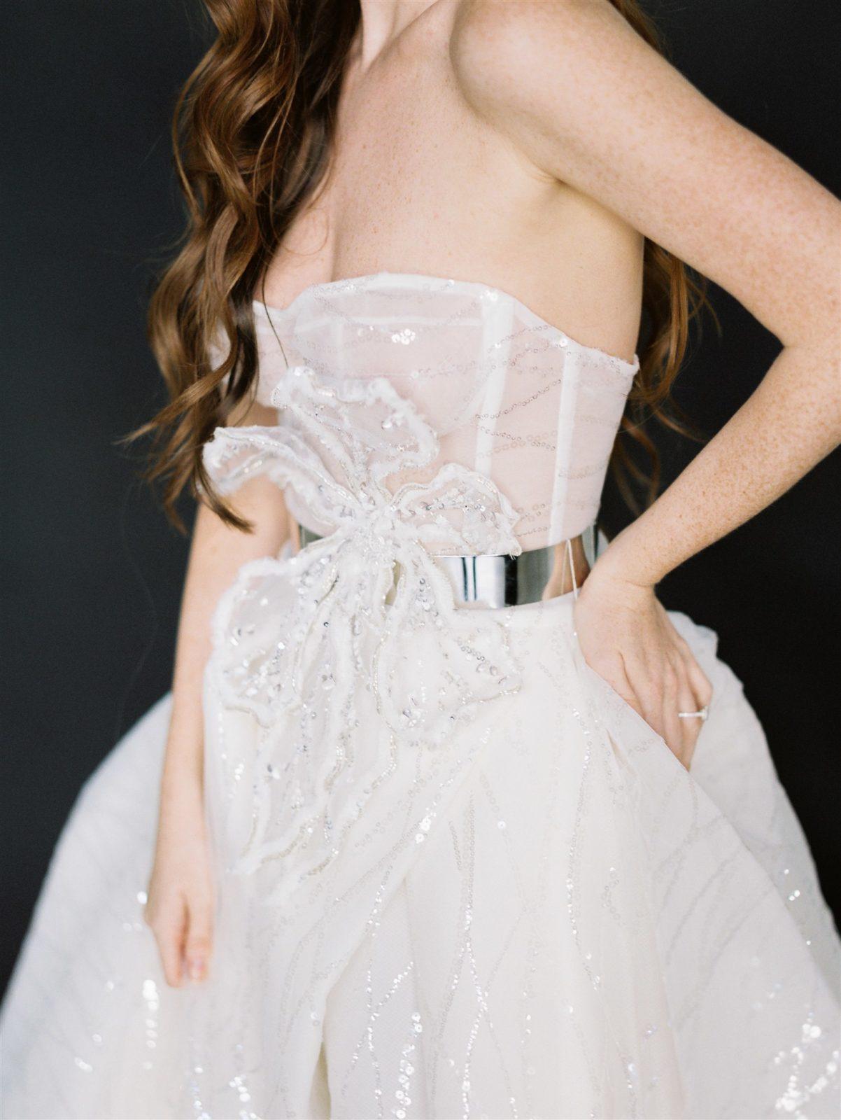 Strapless Galia Lahav Wedding Dress