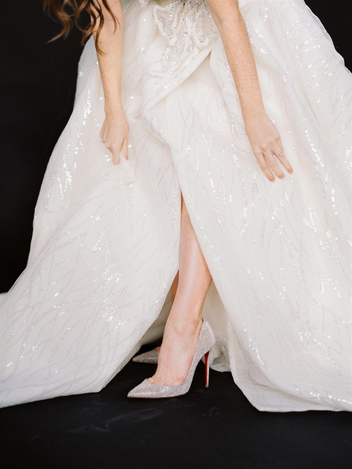 Metallic Galia Lahav Wedding Dress Detail