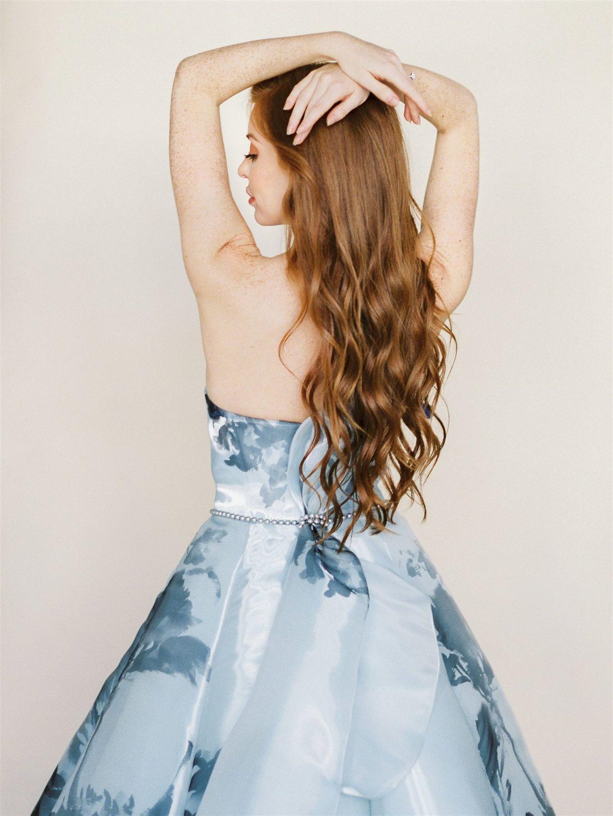 Patterned Mackenzie Bittingham Blue Dress
